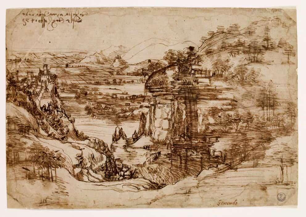Paesaggio con fiume