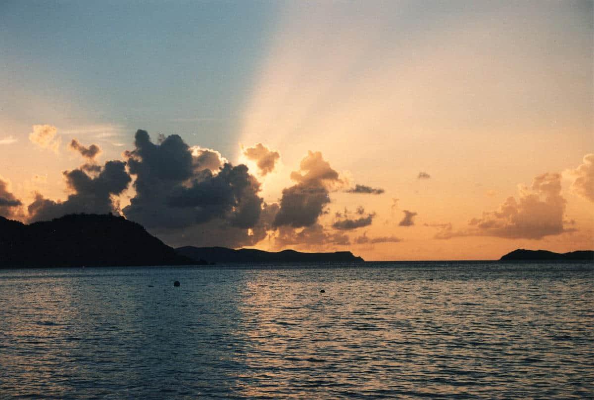 Tramonto isole vergini britanniche