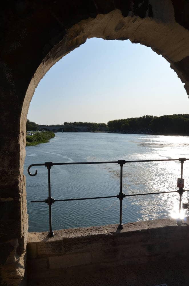 Vista Ponte di Saint-Bénézet Francia