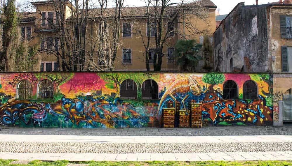 murales a Milano Centro Sociale Zam