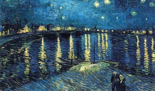 Vincent Van Gogh notte stellata sul rodano _1
