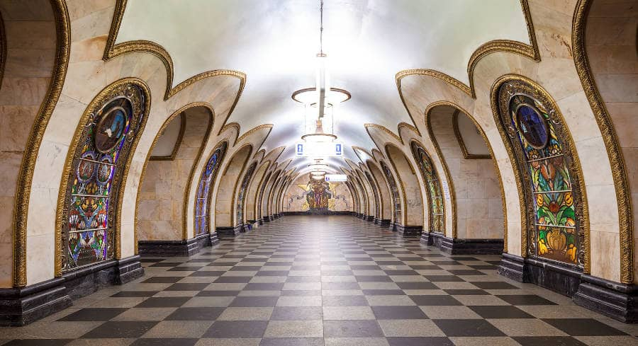 Metropolitana di Mosca - novoslobodskaya