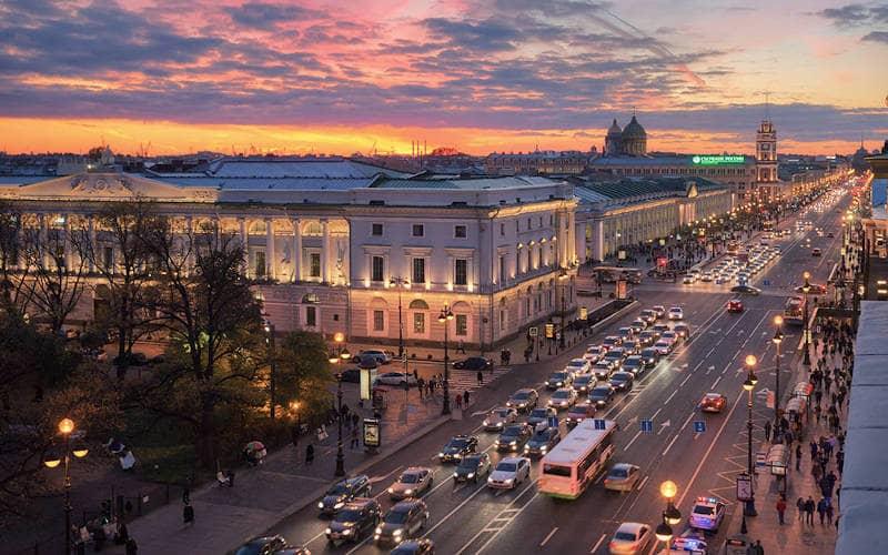 prospettiva Nevskij a San Pietroburgo 2