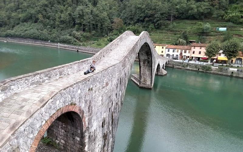 Il ponte del diavolo vista dall'alto